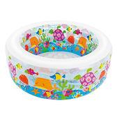 【奇買親子購物網】INTEX 金魚嬰兒充氣海洋水池兒童游泳池