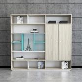 辦公文件櫃木質辦公室資料檔案櫃書櫃家用收納儲物櫃子板式書架櫃  科炫數位