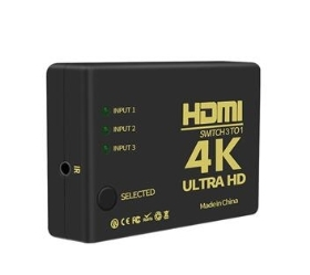HDMI 1080P 4K切換器 3進1出 PS3 PS4分配器 附贈USB電源線