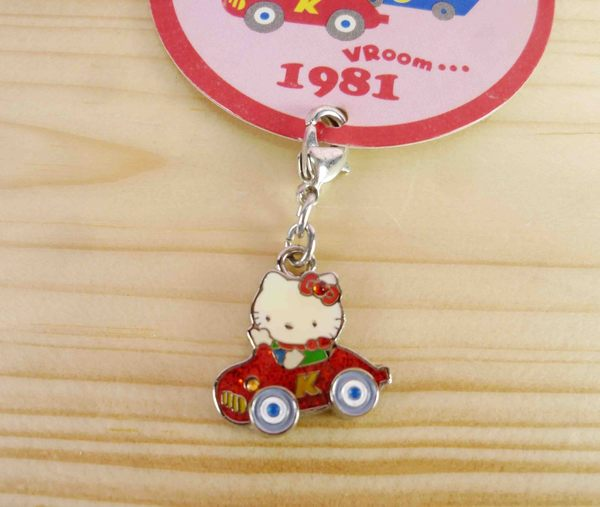 【震撼精品百貨】Hello Kitty 凱蒂貓~KITTY吊飾拉扣-年度限定版-1981年-紅車子