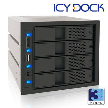 [NOVA成功3C]ICY DOCK MB974SP-B 3轉4抽取式硬碟模組 喔!看呢來