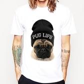 PUG LIFE 短袖T恤-2色 巴哥 哈巴狗 法鬥 狗 犬 動物 進口美國棉 Gildan