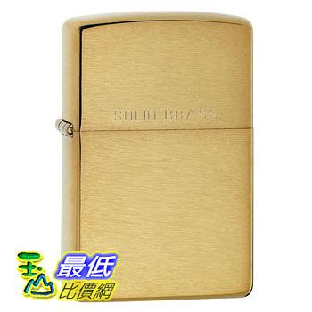 [104 美國直購] Zippo Lighter Solid brass with brushed finish 打火機