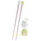 asdfkitty*日本san-x角落生物 白熊+企鵝 造型筷子-有止滑圈-日本正版商品