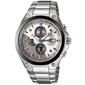 CASIO EDIFICE 多層次競速先鋒計時運動錶(銀白)