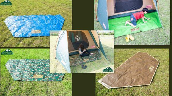 LOWDEN超耐磨夾層前庭延伸地墊/野餐墊(兩用地墊) 300x150 cm (sp大地色) 六角款