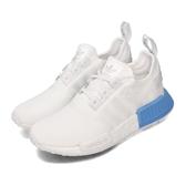 adidas 休閒鞋 NMD_R1 J 白 藍 女鞋 大童鞋 運動鞋 【PUMP306】 EE6677