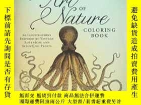 二手書博民逛書店The罕見Art Of Nature Coloring Book-自然藝術畫冊Y436638 Adams Me