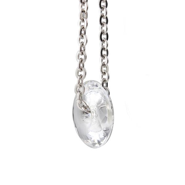 白水晶項鍊-緣來是幸福 (大) 石頭記