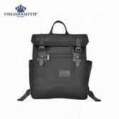 【COLORSMITH】BJ2.輕巧質感方形後背包.BJ2-1325-BK-XS