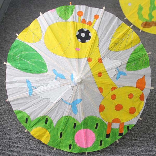 【BlueCat】兒童DIY繪畫空白油紙傘 (30cm)