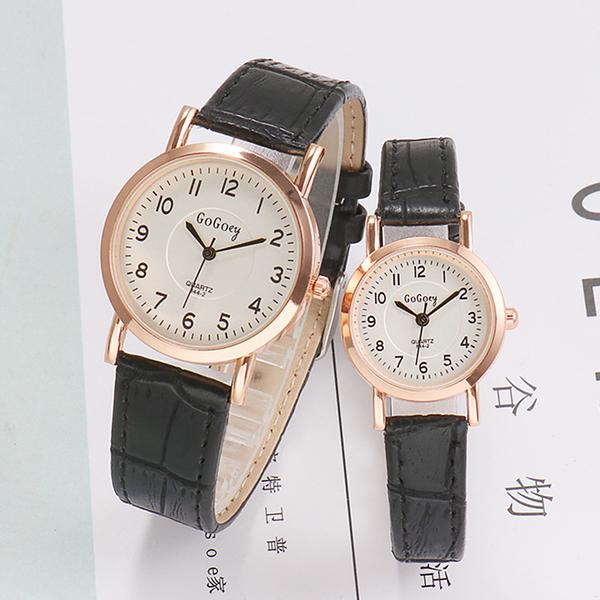 兒童手錶 中小學生兒童手錶女孩男孩電子石英錶防水女童皮帶錶簡約數字複古