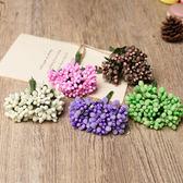 【BlueCat】DIY仿真聖誕花裝飾假花 胸花 卡片布置 (12朵)