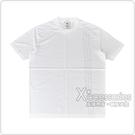Adidas Y-3立體標籤LOGO三條紋設計純棉短T(男/白x黑條紋)