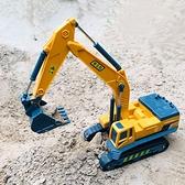 挖掘機玩具 信挖掘機鉤機兒童男孩益智玩具履帶滑行仿真靜態模型工程車【快速出貨八折下殺】