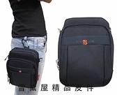 ~雪黛屋~OVER-LAND 外掛式腰包外袋可4.7寸機防水尼龍布隨身物品專用包工作袋可穿過皮帶外掛 #3126