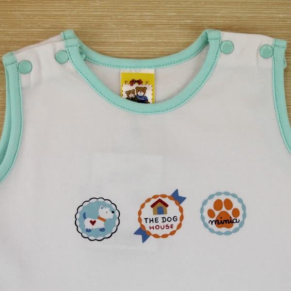 【愛的世界】圓領拚接無袖包屁衣/6個月~2歲-台灣製- ★幼服推薦