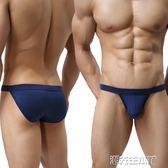 三角內褲 外貿大碼內褲柔軟高彈莫代爾高叉三角褲男士性感緊身歐碼內褲 潮先生