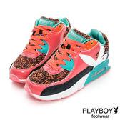 PLAYBOY 異素材 拼接 慢跑運動休閒鞋 -桃