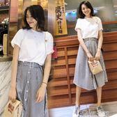 春夏新款韓版名媛小香風a字洋裝兩件套時尚chic時髦套裝女color shop
