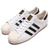 adidas 休閒鞋 Superstar 80s 金標 奶油底 白 黑 復古貝殼頭 男鞋 女鞋 【PUMP306】 G61070