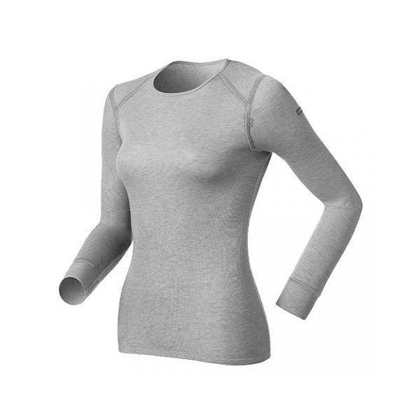 [ODLO]女長袖保暖排汗內衣-深麻灰 (152021-15700)