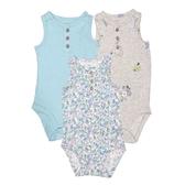 Carter s卡特 背心無袖包屁衣三件組 綠花花 | 女寶寶連身衣(嬰幼兒/兒童/小孩)