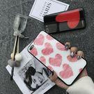 紅色愛心 粉色愛心IPHONE玻璃手機殼 9H鋼化玻璃殼 IPHONEX IPHONE7/8/6 情侶手機殼 歡迎批發