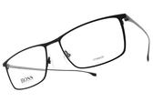 HUGO BOSS 光學眼鏡 HB0976 003 (霧黑-槍) 男士精品低調簡約款 # 金橘眼鏡