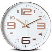 鐘錶掛鐘客廳現代簡約石英掛鐘辦公創意個性靜音圓形家用電子時鐘