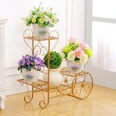 鐵藝綠蘿多層客廳組裝歐式陽臺室內落地式花架WZ4251【雅居屋】TW