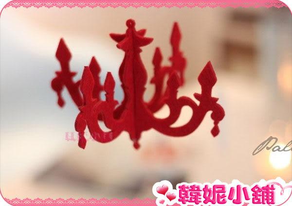 ☆韓妮小舖☆【HC0745】韓風 大紅 吊燈造型 立體掛飾/造型吊飾/居家擺飾/創意卡片
