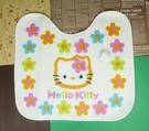 【震撼精品百貨】Hello Kitty 凱蒂貓~馬桶前踏墊~百花圖案