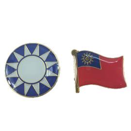 【收藏天地】國旗系列*台灣國旗徽章 二入-國旗與星星
