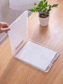 多功能A4帶筆槽寫字板板夾透明桌面文件收納盒檔案家庭證件盒辦公 優拓