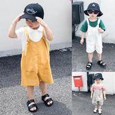 寶寶吊帶褲2019夏裝新款純色男童休閒褲嬰兒洋氣短褲兒童運動褲潮 歐韓時代