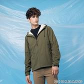【GIORDANO】男裝高機能素色連帽外套 - 49 橄欖綠