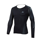 [陽光樂活] MIZUNO 美津濃 BIO GEAR 支撐型緊身衣 BG7000T K2MJ6B6190 (黑x黑)