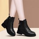 馬丁靴女內增高鞋子英倫風2020年新款秋冬季百搭顯腳小短靴子 伊蘿