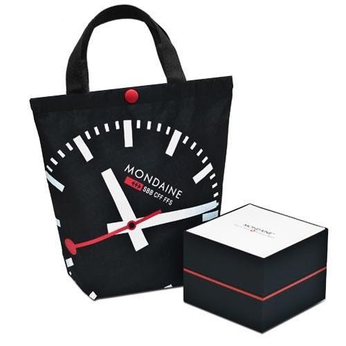 平面3.6cm經典腕錶-亮銀/霧銀兩款可選 Mondaine 瑞士國鐵錶