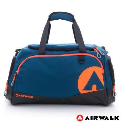 Backbager背包族【美國 AIRWALK】大個子 運動家專用超大尼龍旅行袋(藍)