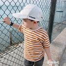 男寶寶條紋T恤夏季男童短袖上衣兒童打底衫 歐韓時代