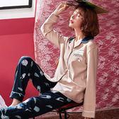 居家服 新款睡衣女春秋季長袖開衫6535棉韓版甜美套裝 米蘭shoe
