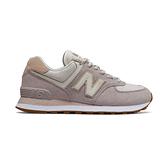 New Balance 574女款灰粉色復古慢跑鞋-NO.WL574SAX