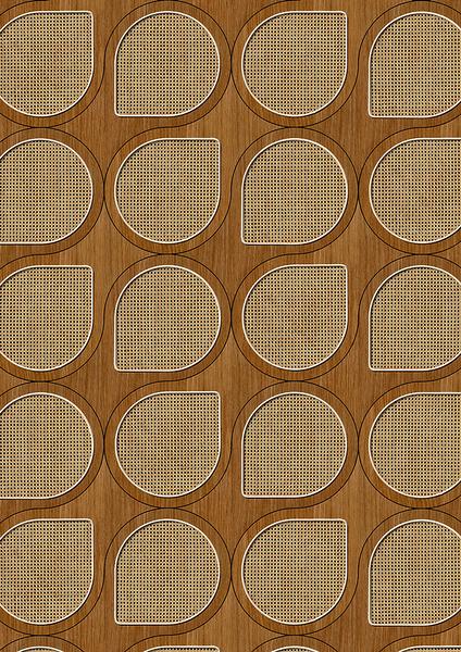 編織紋 藤編織圖案 木紋壁紙 仿真 荷蘭壁紙 5色可選 NLXL CANE WEBBING / VOS-09