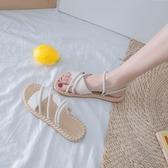 涼鞋女仙女風ins潮夏季時尚百搭