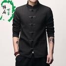 中國風唐裝夾克復古盤扣上衣大碼外套