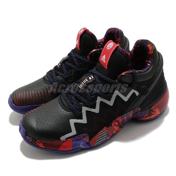 adidas 籃球鞋 D.O.N. ISSUE 2 CNY 中國新年 黑 紫 紅 男鞋 愛迪達【ACS】 G55791