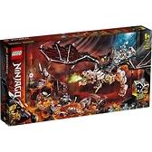 LEGO 71721 骷顱頭巫師之龍 炫風忍者系列樂高盒組