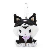 小禮堂 酷洛米 絨毛吊飾 柴犬吊飾 玩偶吊飾 玩偶鑰匙圈 (黑 調皮柴犬) 4550337-57427